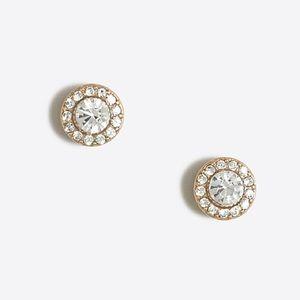 J.Crew Factory Glimmer circle stud earrings- NWT